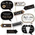 Funny New Year's Eve - Chinese New Years Eve Party Decorations - Photo Booth Props Kit - 10 Count