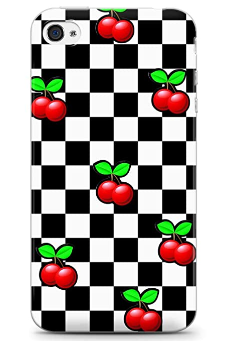 buy popular 0b3c5 d1df3 Case Warehouse iPhone 4 Case, iPhone 4s Case Designer Checkered Cherries  Phone Case Clear Ultra Thin Lightweight Gel Silicon TPU Protective Cover |  ...