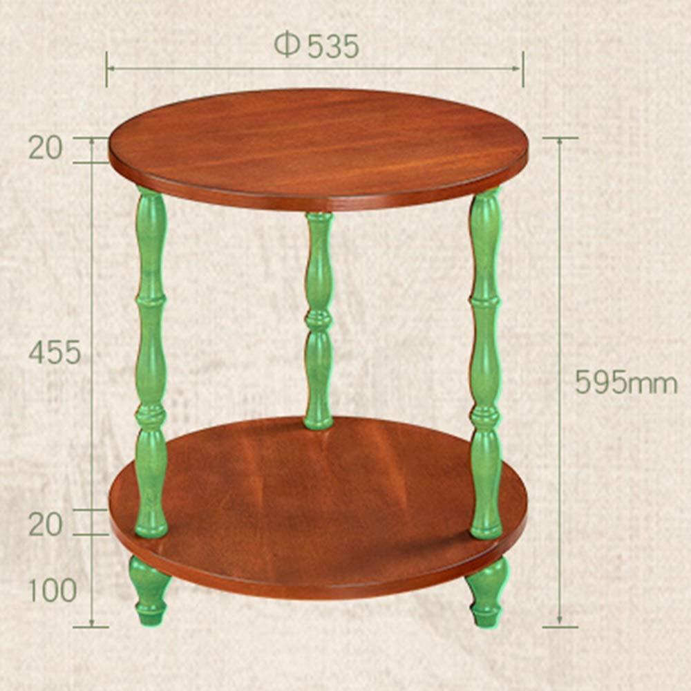 Amazon.com: Mesa auxiliar de madera HANSHAN, mesa redonda ...