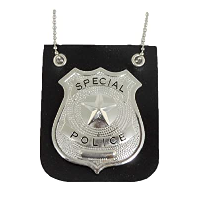 Pretend Play Police Badge With Chain Fashion Necklace: Toys & Games