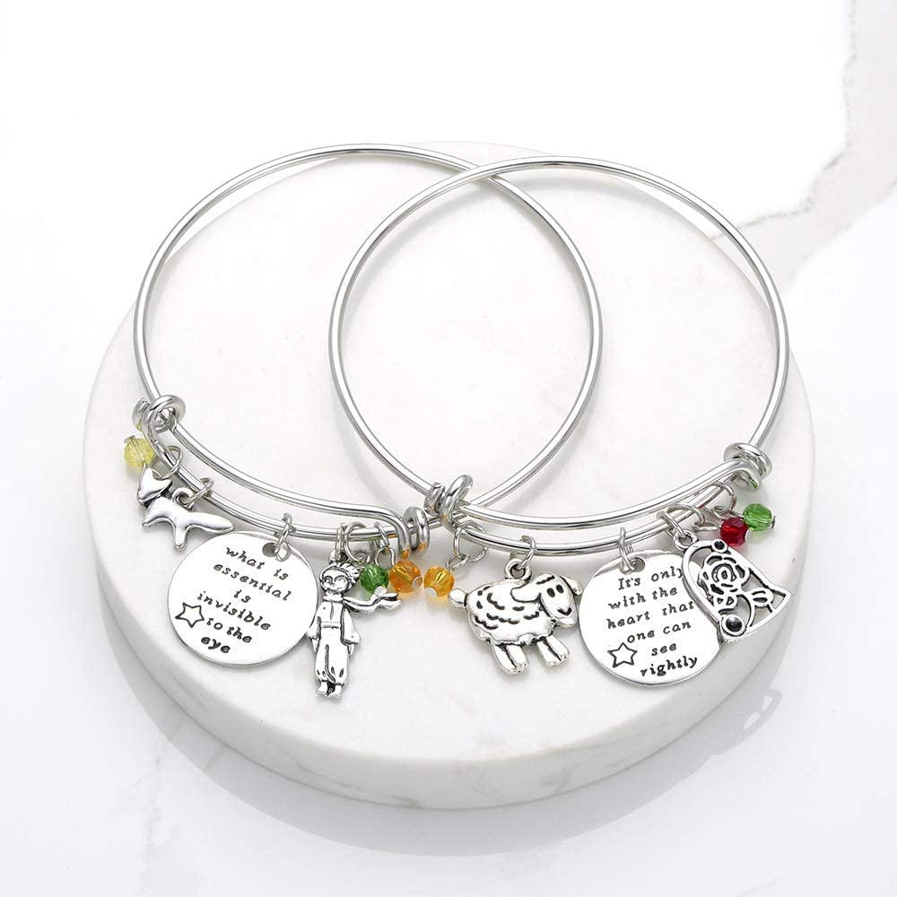 hanreshe Bangle Jughead Adjustable DIY Bracelet Message Charm Expandable Wire Bangle Bracelet