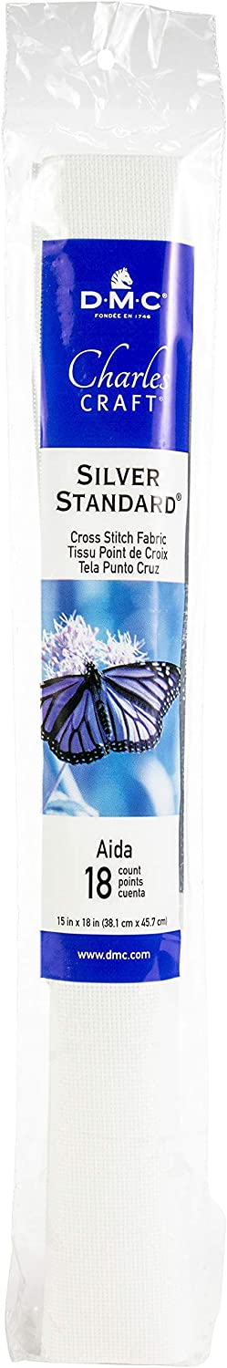 Charles Craft Silver Label Aida 18 Count 15X18 Soft Tube Multipack of 24