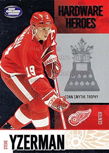 (CI) Steve Yzerman, Conn Smythe Trophy Hockey Card 2002-03 Pacific Calder Hardware Heroes 6 Steve Yzerman, Conn Smythe Trophy