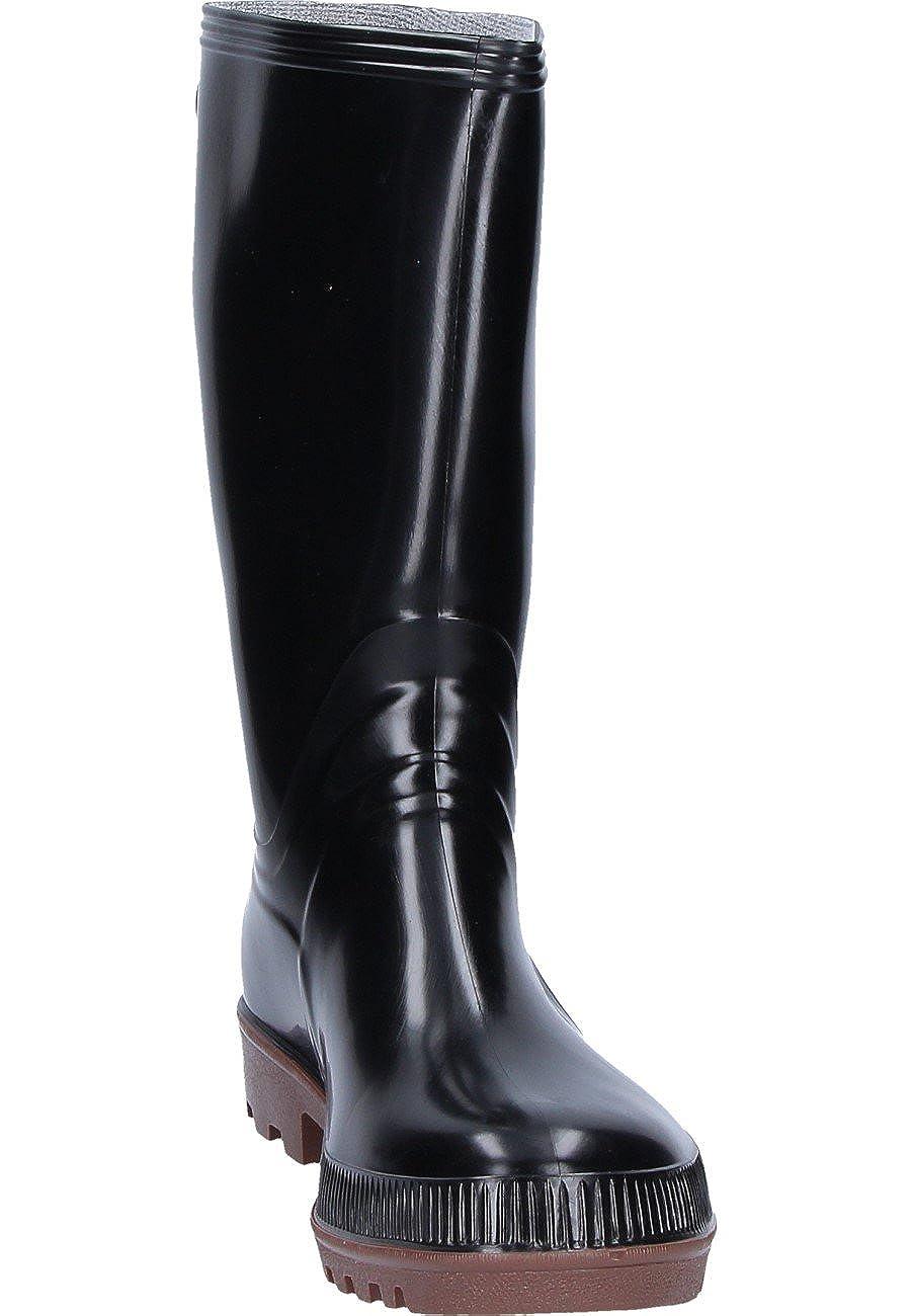 Unbekannt Modell schwarz Expert schwarz Modell - schwarzer Berufs-Gummistiefel nach DIN EN 347 mit Holzinnensohle, 42 638990