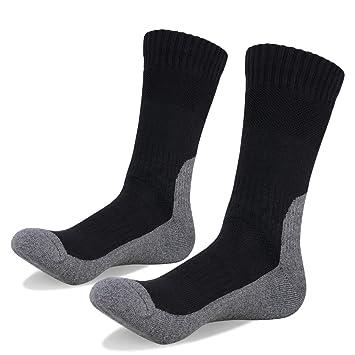 YUEDGE 1 Par Calcetines para Trekking Caminar Acampada Senderismo Cojín Transpirables Calcetines Térmicos de Invierno al