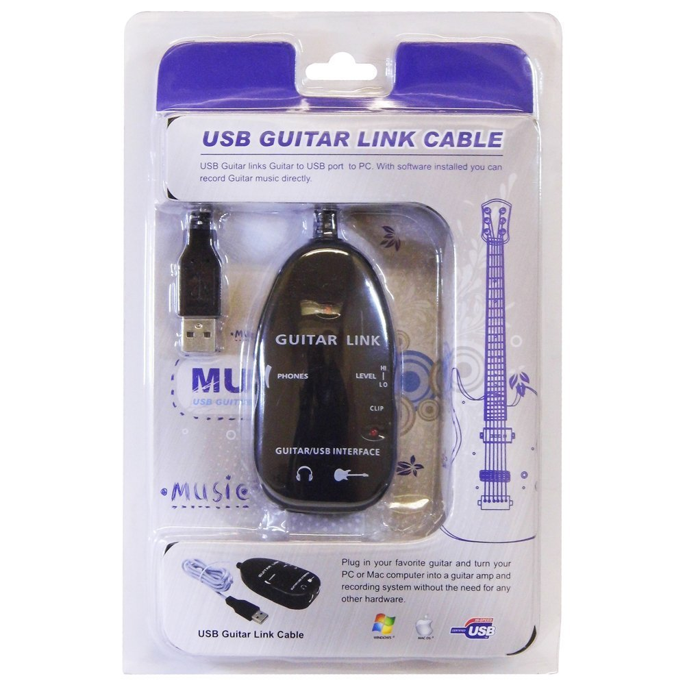 HCL - Cable de audio USB para conectar guitarra a ordenador o MAC: Amazon.es: Informática