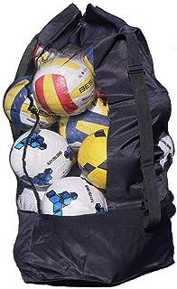 YJZQ Extra Grande, Borsone Impermeabile Mesh Equipment, Heavy Duty Net Ball Tracolla Tappeto Palla da Calcio Basket pallavolo Borsa Tote Storage Sacco con Coulisse per 10–15Palline