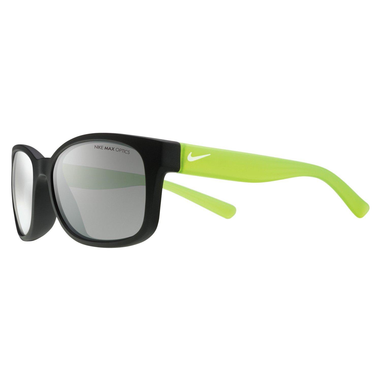 Nike Golf Spirit Sunglasses, Matte Black / Volt Frame, Grey with Silver Flash Lens by Nike Golf (Image #1)