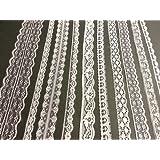 Crystals & Gems UK Weiße Vintage-Spitze - 20 Meter Mischung, Braut Hochzeit Trimmung Spitze (Weiße)