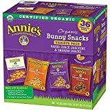 Image of Annie's Organic Variety Pack, Cheddar Bunnies and Bunny Graham Crackers Snack Packs, 36 Pouches, 1 oz Each