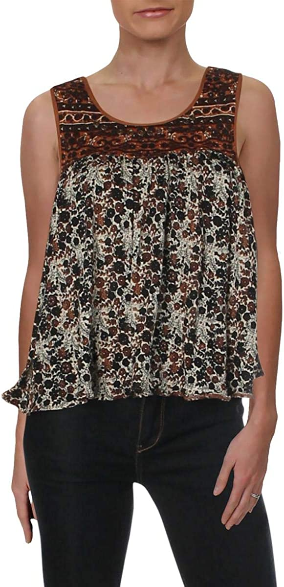 Free People Womens Lucky Coin Casual Daytime Tank Top