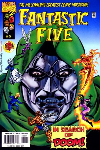 """Fantastic Five Issue 5 Feb 2000 """"In Search of Doom"""" PDF"""