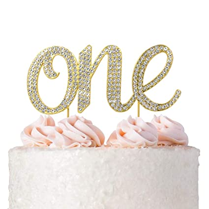 Amazon 1st First Birthday Cake Topper Decoration