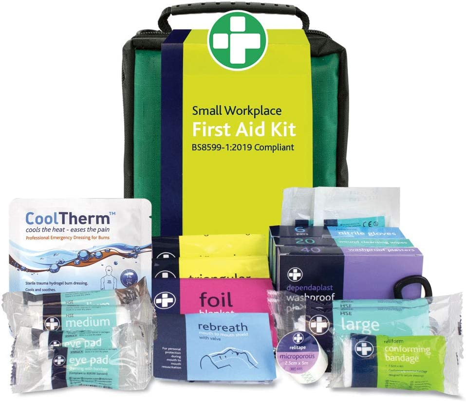 Reliance REL688 BS8599-1 Workplace Kit, Stockholm Bag, 19 cm H x 12 cm W x 8 cm D, Small: Health & Personal Care