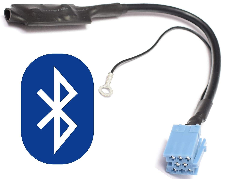 Interfaz de audio Bluetooth para 8 pines Mini ISO Audi: Chorus 2, Concert 2, Symphony 1/2, Navigation Plus 1/2, RNS de D - - - - VW: MCD, MFD, Gamma 5. BlueMusic