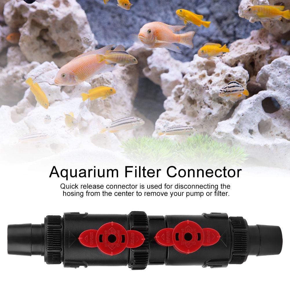 12-16mm // 16-22mm Tubo de la Manguera del Tanque de Peces Conector de liberaci/ón r/ápida Filtro de acuarios Conector de pl/ástico 16-22mm HEEPDD V/álvula de Control de Flujo de Agua del Acuario
