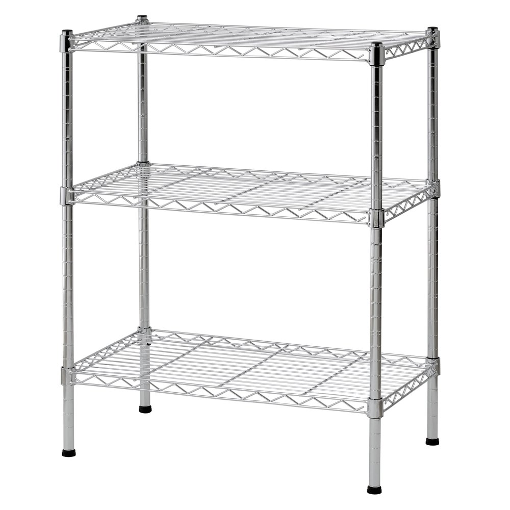Sandusky Ws241430 Wire Shelving 24 Width X 30 Height X 14 Depth 3 Shelves Chrome Industrial Scientific