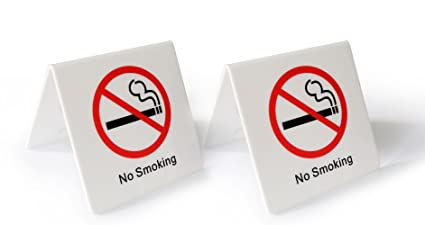 amazon com dealzepic no smoking table top tent sign white