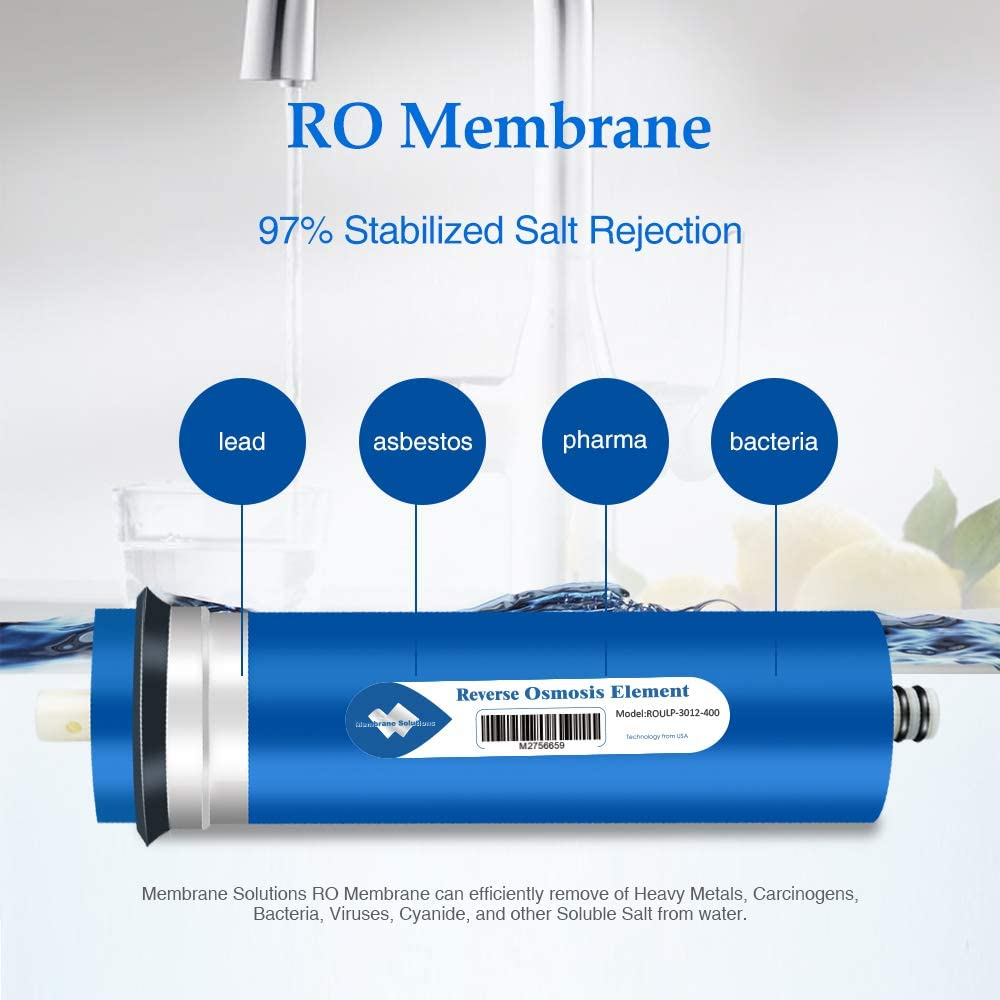 Housing Universal 400GPD Reverse Osmosis RO Membrane Water Filter Replacement