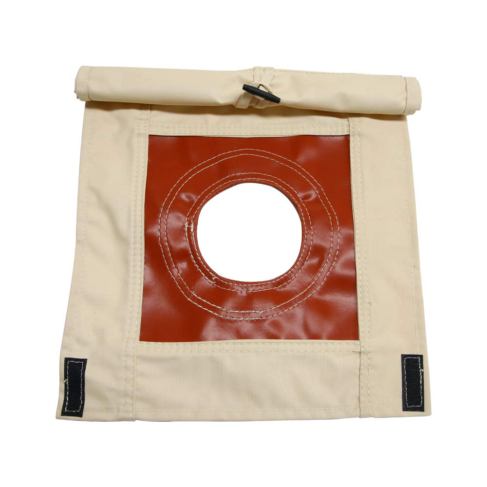 UNISTRENGH Fire-Resistant Stove Jack Hole Accessory with Flap Covered for 4 Seasons Cotton Canvas Camping Bell Tent