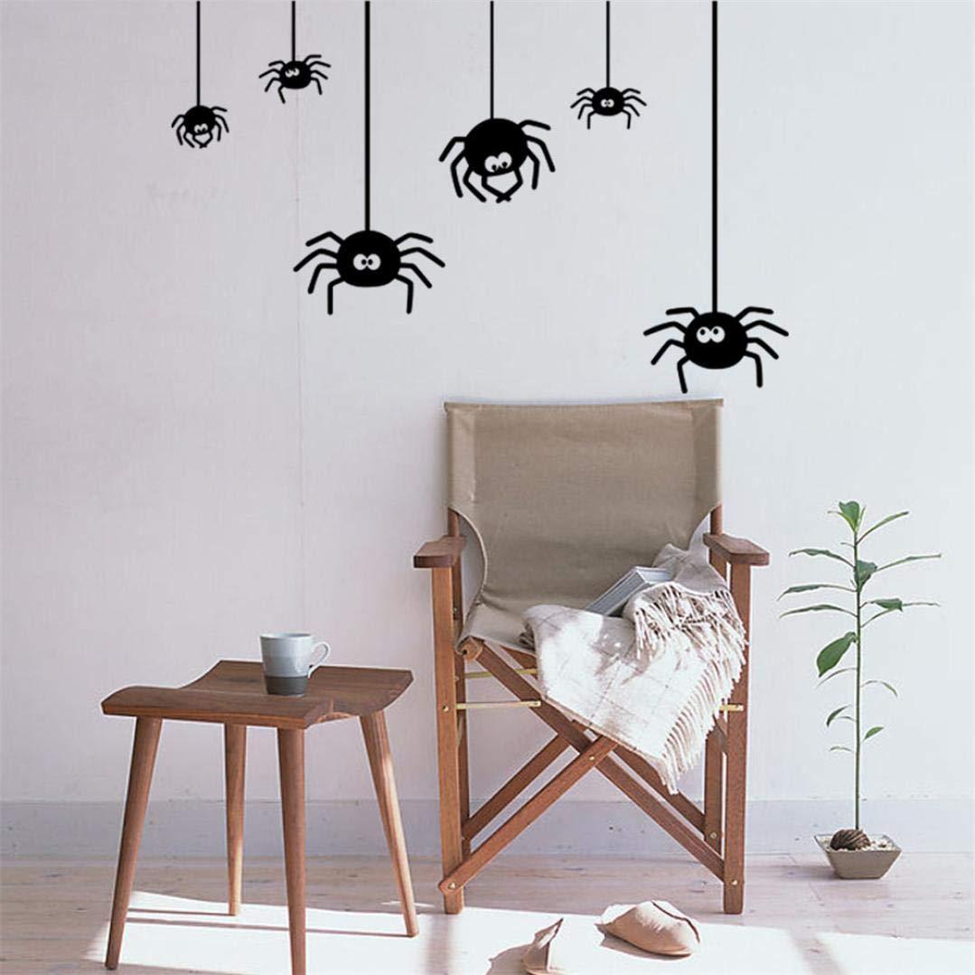 Holeider Halloween Wandtattoo Neu Entfernbare Spinne 3D Für Schlafzimmer Wohnzimmer Kinderzimmer