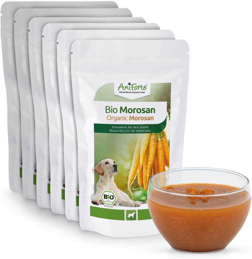AniForte Bio Morosan para Perros 6 x 100 g - alimento para la diarrea y la indigestión, prebiótico Natural para una Flora intestinal Saludable