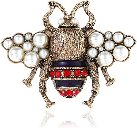 Fashion Bee Insects Bumblebee Gold Plated Pin Crystal Rhinestone Brooch Gift