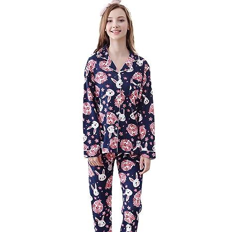 Camisones Pijamas algodón de Color Oscuro Hembras Ropa de Dormir ...