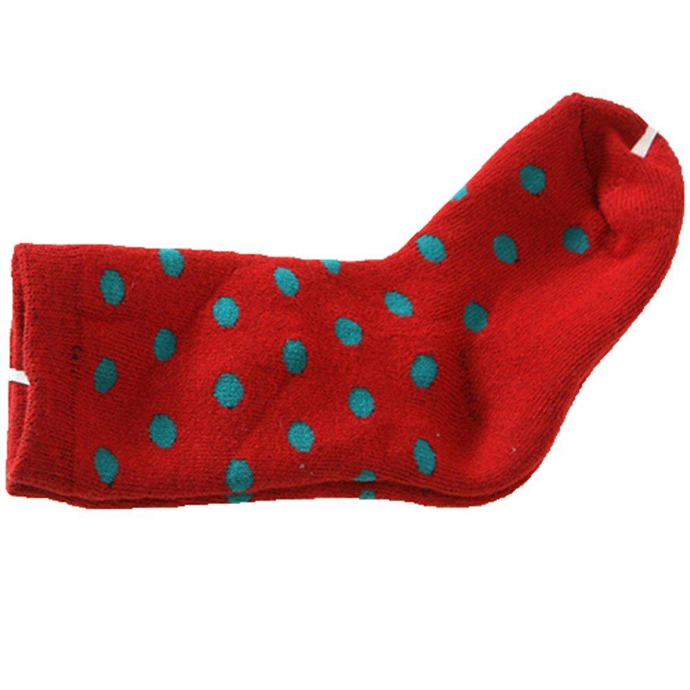 Lovely Baby Kids Children Dot Thick Warm Socks Cotton Knee-High Long Socks Stockings Greenlans