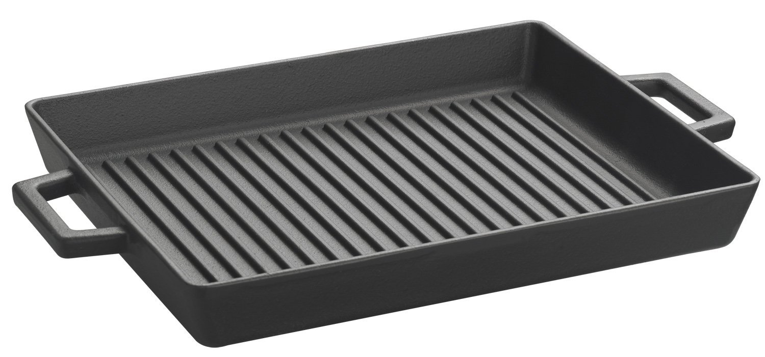 Lava ECO Enameled Cast-Iron 10 x 12 inch Grill Pan,Slate Black