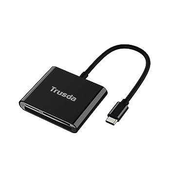 Adaptador de lector de tarjetas USB C to SD / TF / CF Puerto,OTG Converter para Macbook Pro, ChromeBook Pixel, Nexus 5X, Samsung S10 S9 S8 S7 Note 8, ...