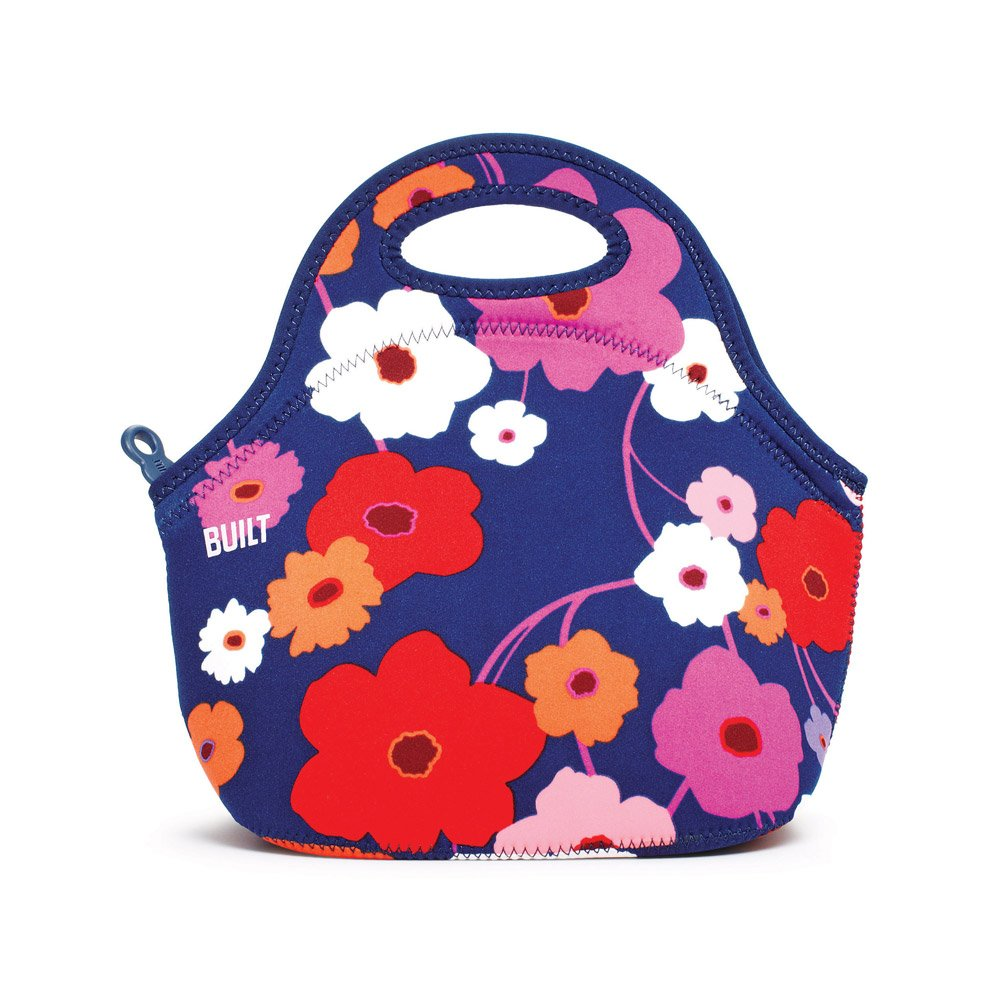 Built NY Gourmet Getaway Reusable Insulated Lunch Bag, Fashionable, Durable, Expandable, Machine Washable For Women, Men and Kids - Great for Work, Road Trips, Plane Rides, Picnics - Anytime! - Lush Flower LB31-LSHCN