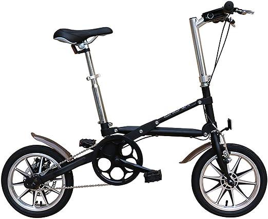 VANYA Ligera Unisex Bicicleta Plegable de 14 Pulgadas Frenos de ...