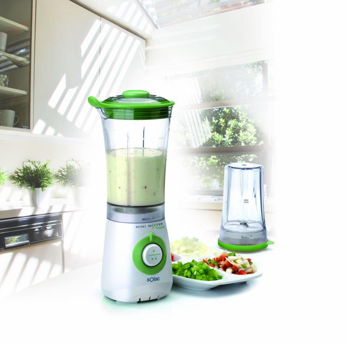 Solac Mini Mixer 350W 2in1, Plástico, Plástico, Blanco, Verde, 220 ...