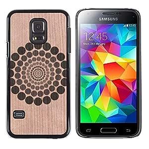 - / Pattern Rings Floral Abstract Minimalist - - Funda Delgada Cubierta Case Cover de Madera / FOR Samsung Galaxy S5 Mini G870a / Jordan Colourful Shop/