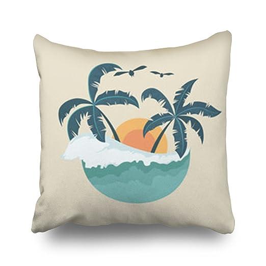 Funda de cojín personalizable con diseño de palmera de ...