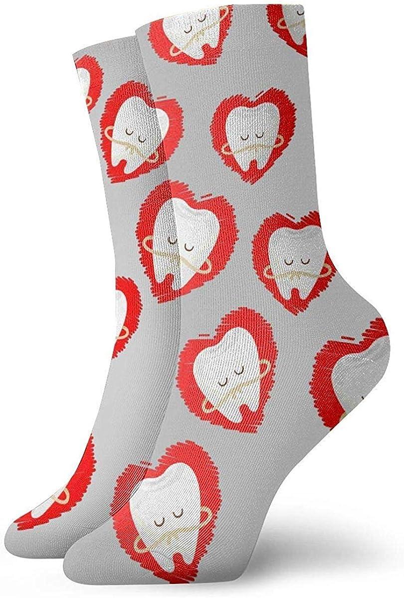 Calcetines casuales divertidos estampados con estampado de arte de huevo frito y tocino divertidos para mujer