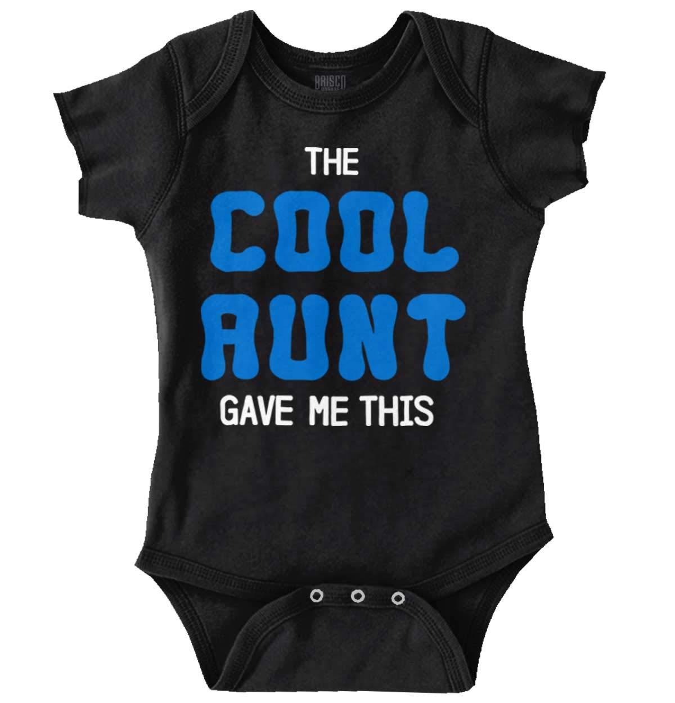 Brisco Brands The Cool Aunt Gave Me This | Auntie Niece Nephew Cute Family Romper Bodysuit
