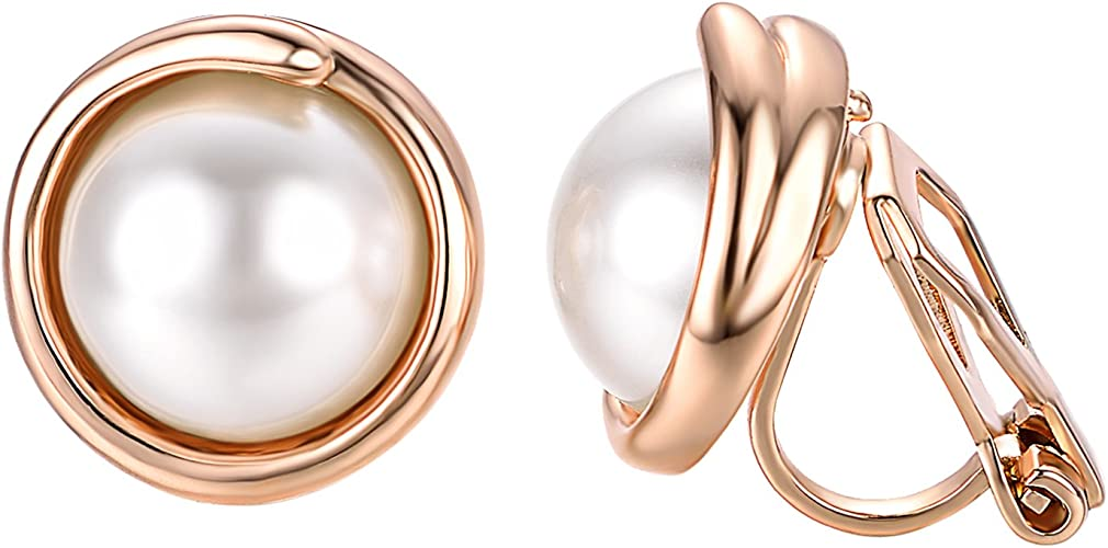 Fashion-LN Simple simulation pearl earrings Stud bride earrings jewelry