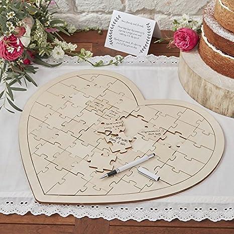 Amazon.com: Wedding Guest Book Ideas Wedding Games Write On Wooden ...