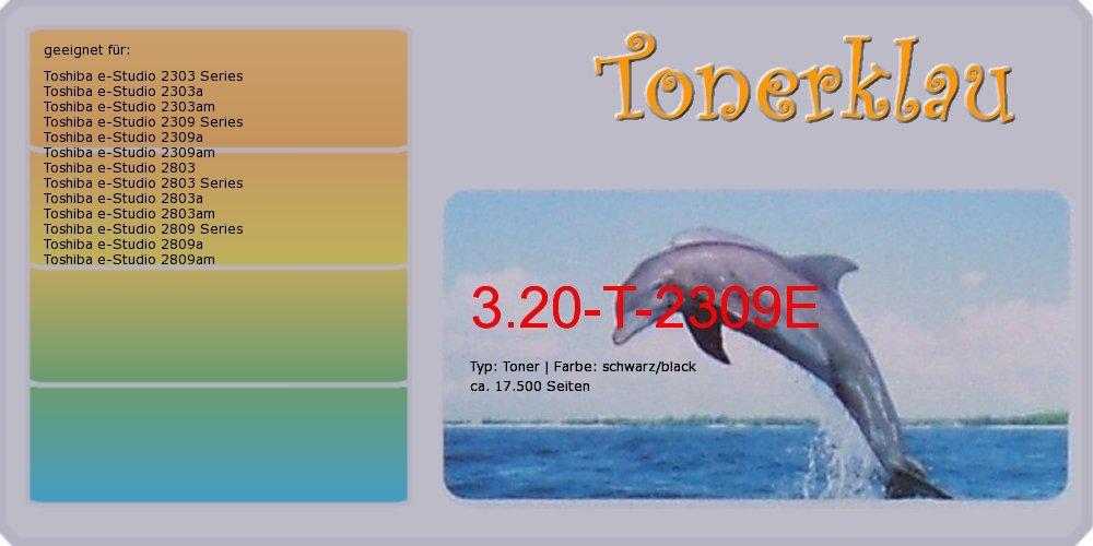 compatible Toner 3.20 de T de 2309e para: TOSHIBA E-Studio de 2309 a como repuesto para Toshiba T de E-Studio 2309e/6ag00007240 ef4533