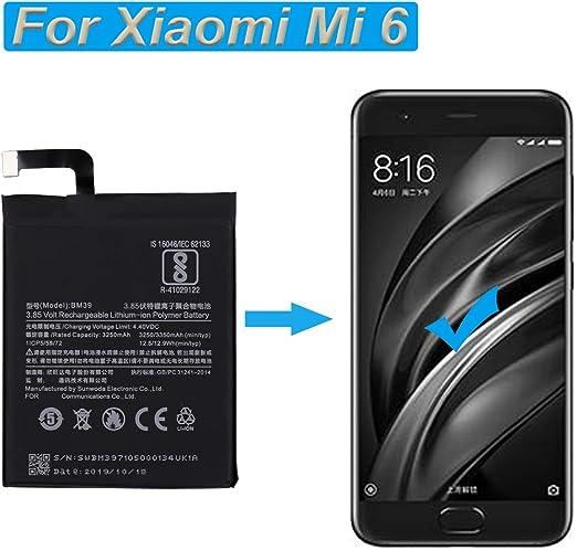 BM39 Blue Star Premium Bater/ía de Li-Ion Litio 3300 mAh de Capacidad Carga Rapida 2.0 Compatible con el Xiaomi Mi6