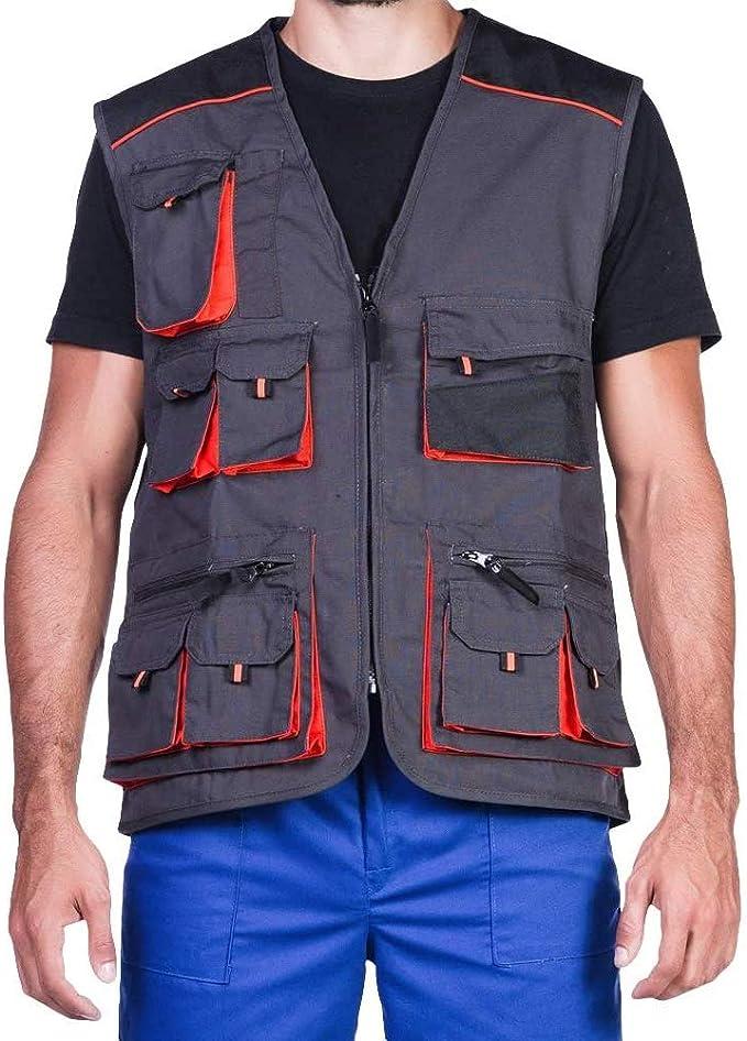 Gilet Da Lavoro Uomo Multitasche Senza Maniche Giacca Da Lavoro Grigio Abbigliamento Da Lavoro Qualita Amazon It Abbigliamento