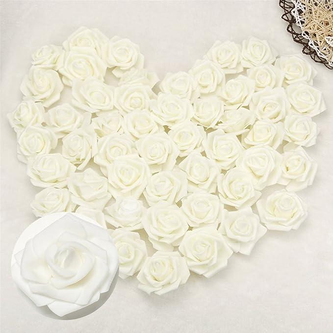 144Pcs Artificial Foam Mini Roses Head Small Flowers Decor Party Wedding R3E0