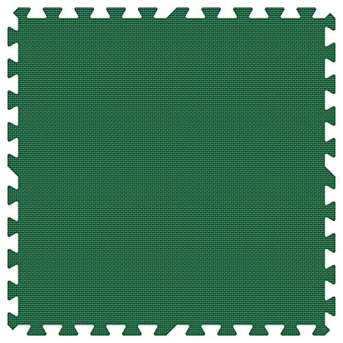 1 inch Thick Groovy Mats Green and Lime Green Reversible 24 in. x 24 in. Extra Thick Comfortable Mat (100 sq.ft. / Case) by Groovy Mats