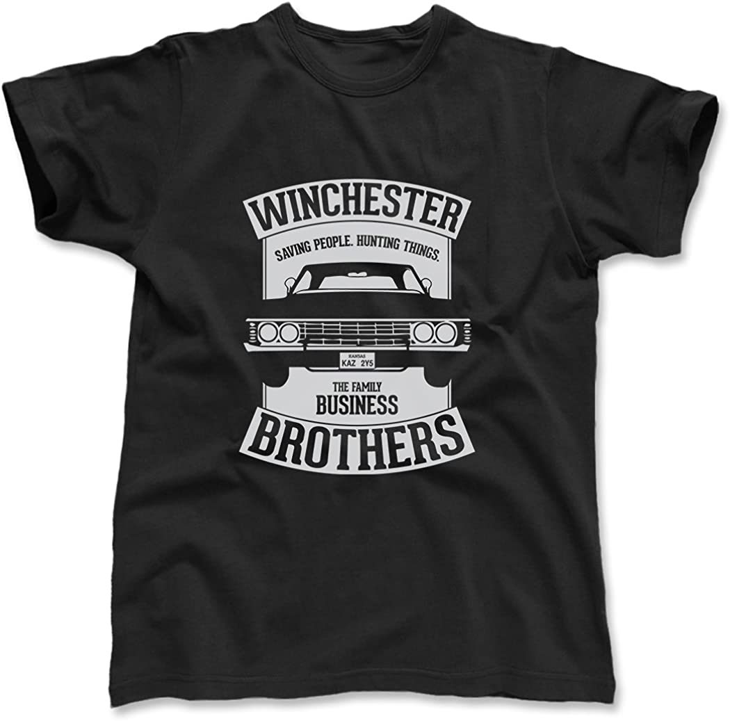 Supernatural Brothers Huntin Things Tshirt Family Business Dean Sam Castiel