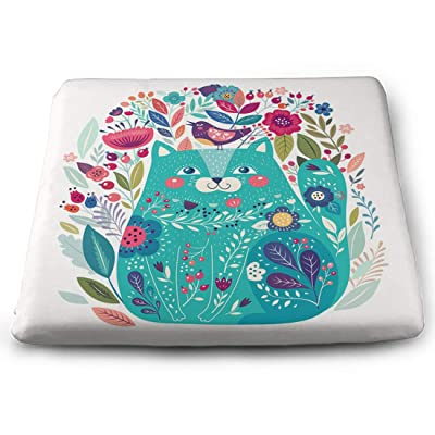 Tinmun Square Cushion, Colorful Beautiful Cat Bird Flowers Large Pouf Floor Pillow Cushion for Home Decor Garden Party: Home & Kitchen