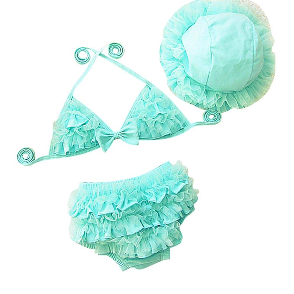 Deylay Carino Lace Bambini Bikini Tre Pezzi Swimsuit Costume B1606111621-D
