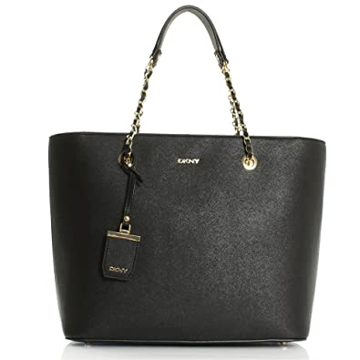 229e47a873 DKNY Louise Black Leather Chain Handle Shoulder Bag Black Leather ...