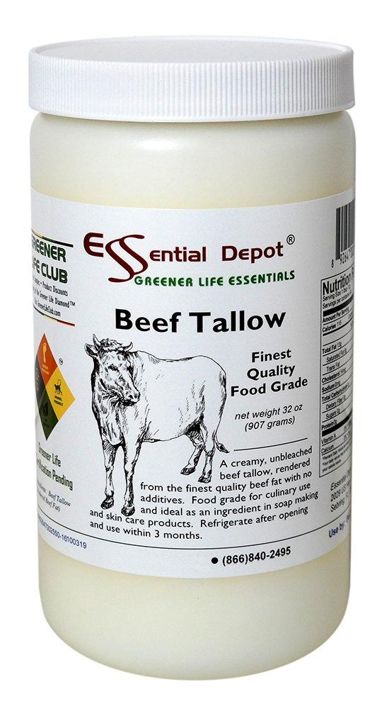Beef Tallow Finest Quality Food Grade - 32 oz. - 2 lb. - 1 Quart by Essential Depot